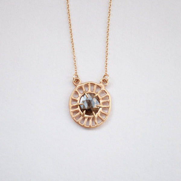 Sarah Swell Gold Cosmic Web Necklace