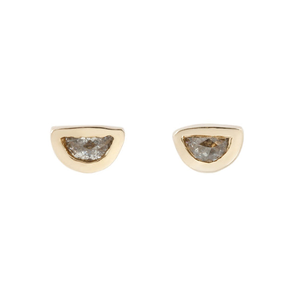 Semi Circle Diamond Studs