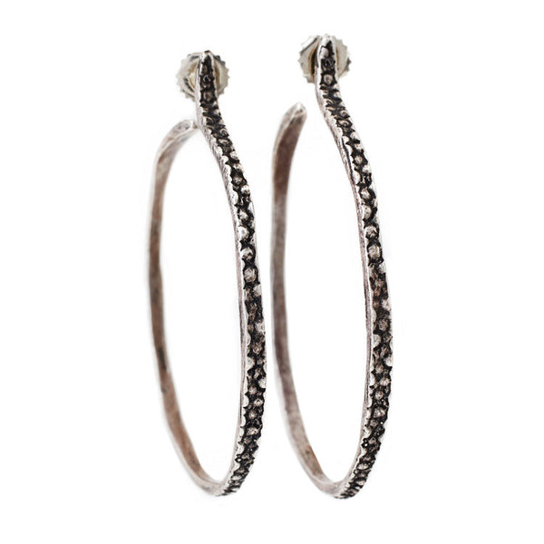Lauren Wolf Jewelry Silver Stingray Hoops