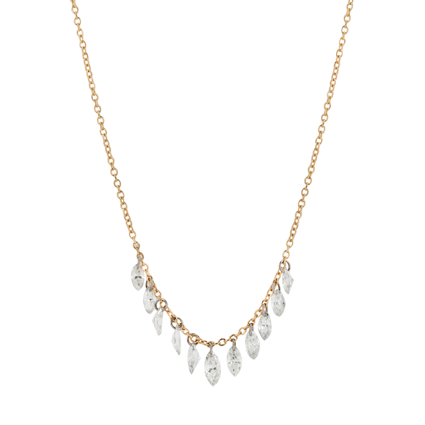 Marquise Eleven Diamond Necklace