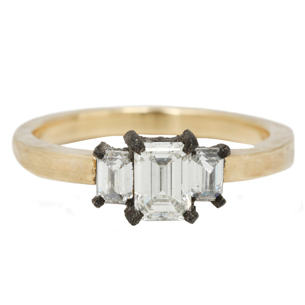 TAP by Todd Pownell Rise To The Occasion Ring with White Emerald cut diamonds