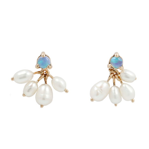 Opal and Pearl Cloudburst Earrings