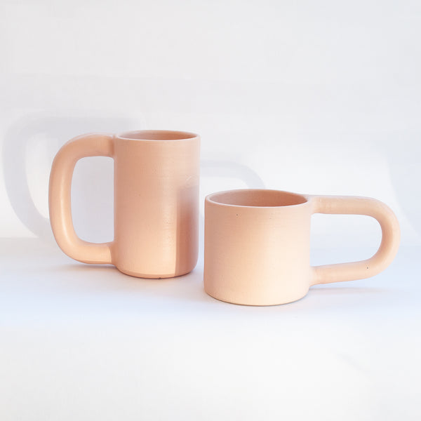 Hand Built Short Ceramic Mug