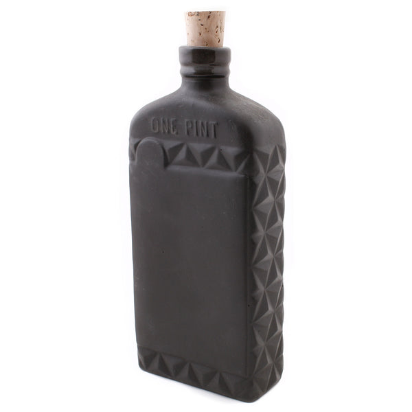 Black Porcelain Flask