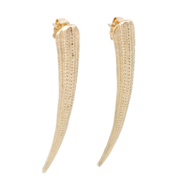 Lauren Wolf Jewelry Gold Seashell Spike Earrings