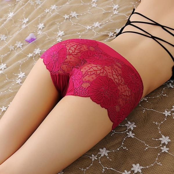 2019 Lynmiss Sexy Lace Underwear Briefs Womens Panties For Women Underwear Lingerie Seamless Plus Size Thong Panties Female - Panties