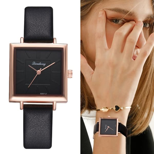 2019 Top Brand Square Women Bracelet Watch Contracted Leather Crystal WristWatches Women Dress Ladies Quartz Clock Dropshiping - Accessories