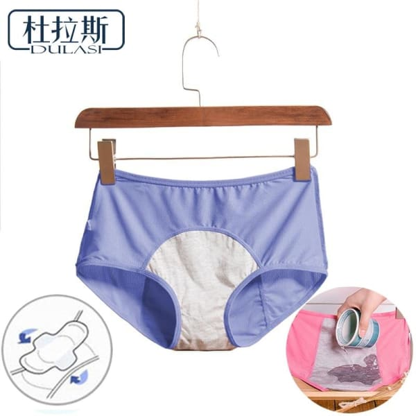 Leak Proof Menstrual Period Panties Women Underwear Physiological Pants Cotton Health Seamless Briefs High Waist Warm For Female - Panties