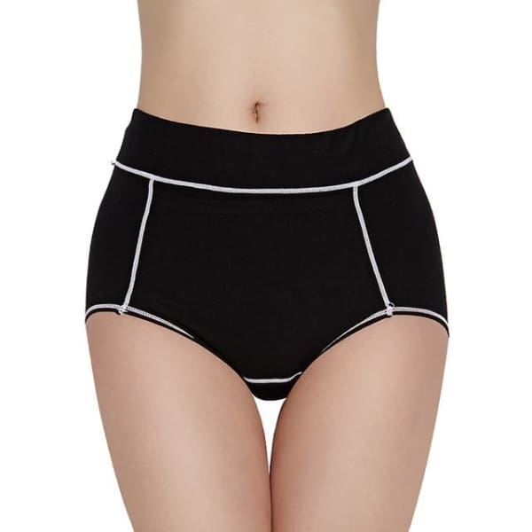 Women Menstrual Panties Period Physiological Pants for Girls Warm Female Cotton Leak Proof Sexy Underwear Breathable Briefs - Black / L -