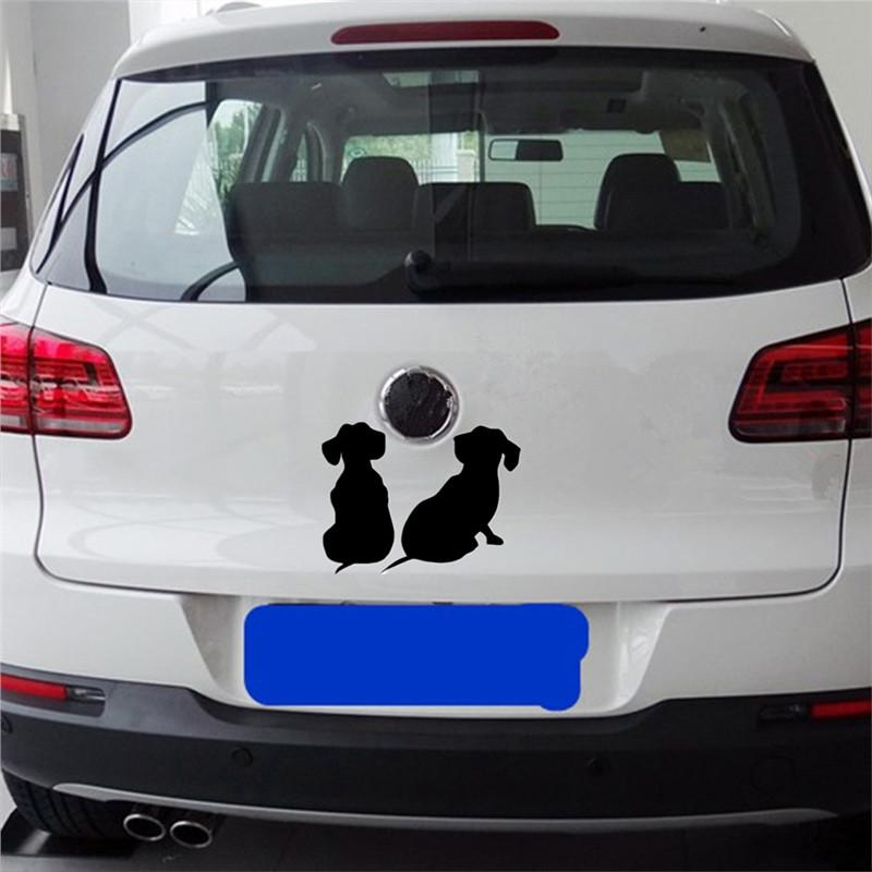 2pcs Cute Black Dog Decals Car Sticker car sticker PetsWheel Default Title