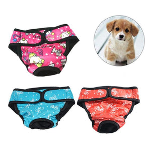 3 PCS Pet Dog Sanitary Physiological Underwear dog clothes PetsWheel XXL
