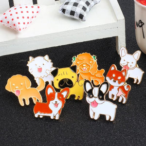 8-PCS Dog Enamel Pins enamel pin PetsWheel