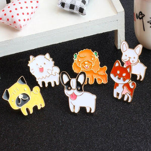8-PCS Dog Enamel Pins enamel pin PetsWheel 8 Pcs