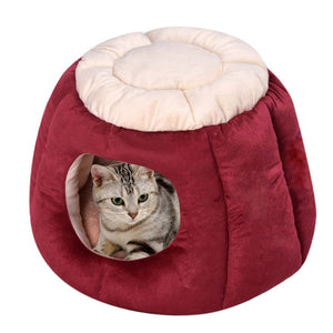 Cute House For Small Pets bed PetsWheel Red S