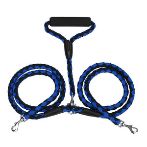 Dog Double Leash leash PetsWheel Blue