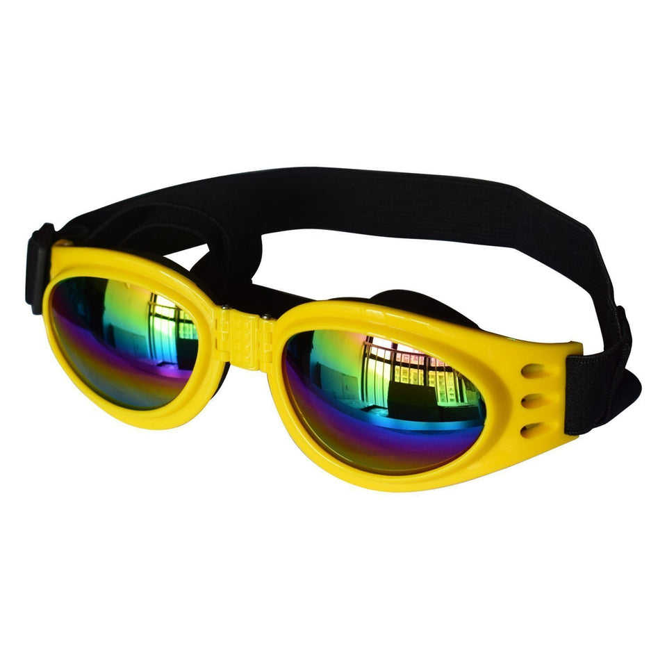 Dog Goggles goggles PetsWheel Yellow