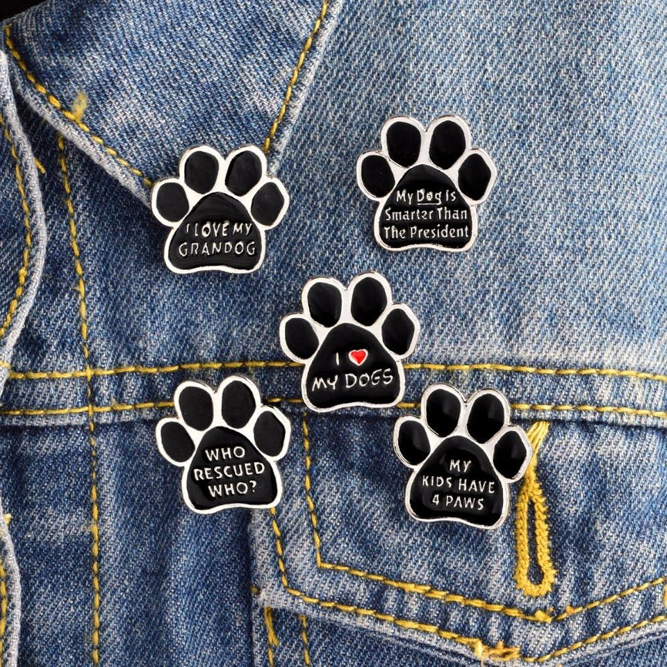 Paw Brooch accessories PetsWheel