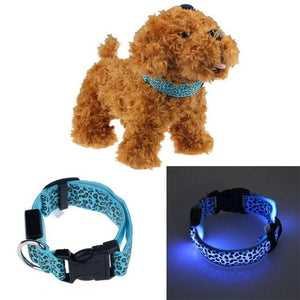 Reflective Light Dog/Cat Collar collar PetsWheel Blue S