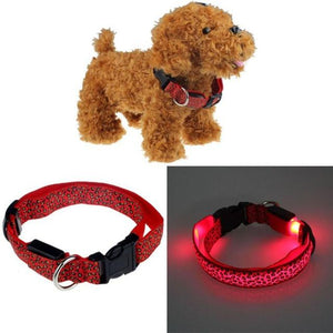 Reflective Light Dog/Cat Collar collar PetsWheel Red S