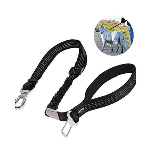 Reflective Nylon Dog Car Safety Belt leash PetsWheel
