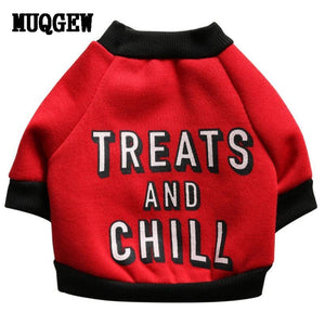 """Treats And Chill"" Dog Funny Clothes clothes PetsWheel"