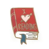 I Heart Reading Lapel Pin