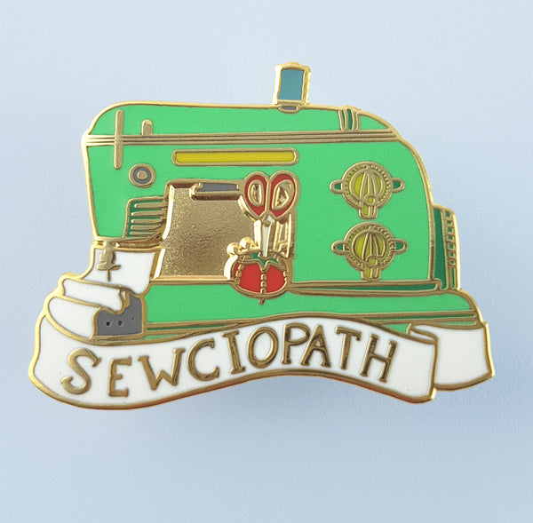 Sewciopath Lapel Pin