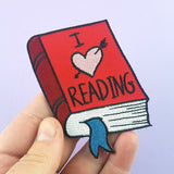 I Heart Reading Embroidered Patch