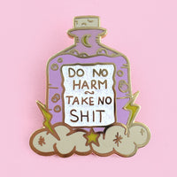 Do No Harm Take No Shit Lapel Pin