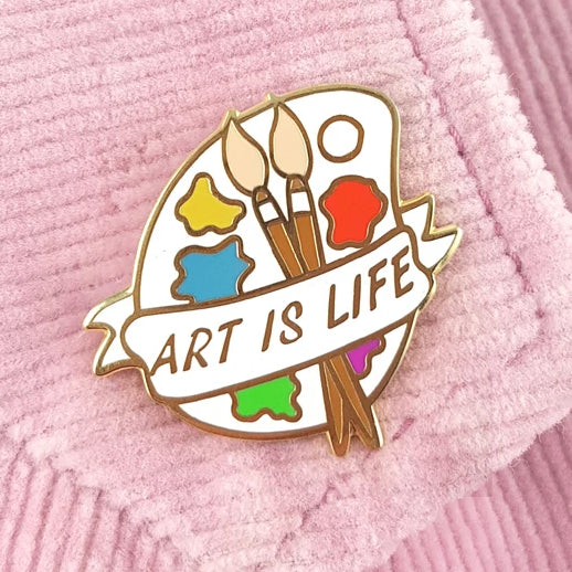 Art Is Life Palette Lapel Pin