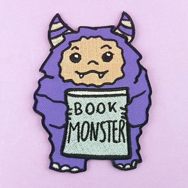 Book Monster Embroidered Patch