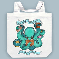 It's Not Hoarding If It's Books Canvas Tote Bag