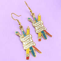 Choose Your Weapon Earrings