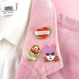 Feminist Heart Lapel Pin