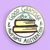 Good Grammar & Awesome Alliteration Lapel Pin