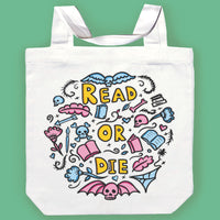 Read or Die Canvas Tote Bag