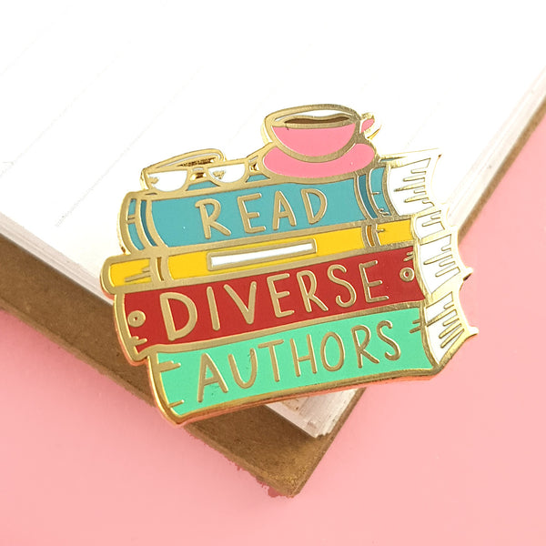 Read Diverse Authors Lapel Pin