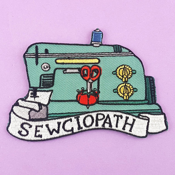 Sewciopath Embroidered Patch