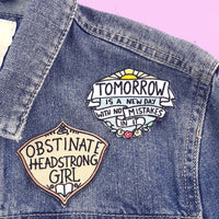 Obstinate Headstrong Girl Embroidered Patch