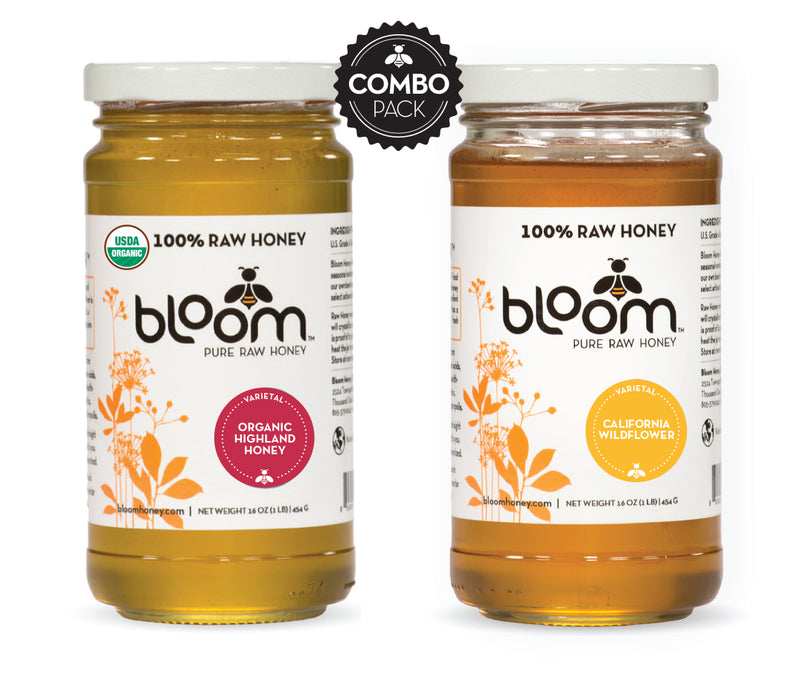 Organic Highland Honey & California Wildflower Combo