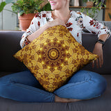 Heart of Gold Sacred Geometry Pillow