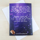 Libra Zodiac Card with Banded Agate Birthstone Crystal