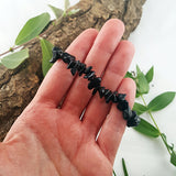 Crystal Chip Bracelet - Black Obsidian