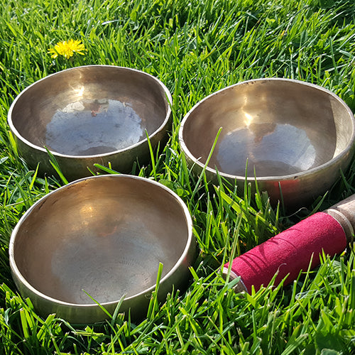 Set of Three Tibetan Singing Bowls