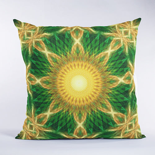 Solar Growth Sacred Geometry Pillow