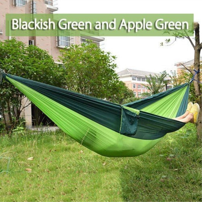 270*140cm Backpacking Hammock - Portable Nylon Parachute Outdoor Double Hammock