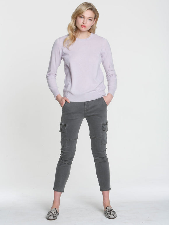LABEL+thread CORE Cashmere Crew Cardigan Petal