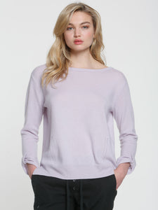 LABEL+thread Luxe Tab Cuff Sweater