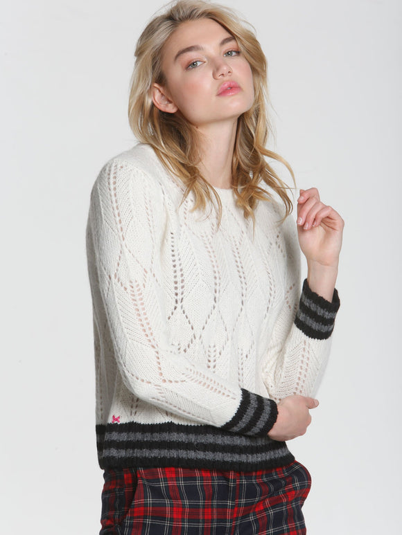 LABEL+thread Alpaca Blend Girlfriend Ski Sweater White