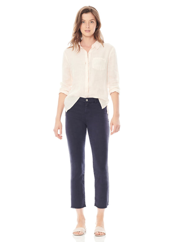 Ecru Dylan Cropped Navy Jeans